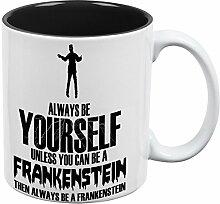 Immer werden Sie sich Frankenstein aller Kaffee-Haferl schwarz-weißen eine Standardgröße