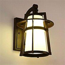 Immergrüne Außenwand Lampe Garten Balkon Lampe American Retro Regenschutz europäischen Gang Außenhof Wandleuchte wasserdicht , in