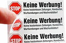 immi 10x Stop Keine Werbung Briefkasten Reklame