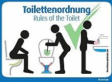 immi 4 Stck. Toilettenordnung, Sitzen pinkeln,