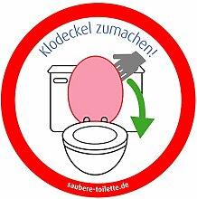 immi 4St. Klodeckel runter, Saubere Toilette/WC