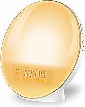 imoebel Lichtwecker, LED Wake-up Licht Wecker