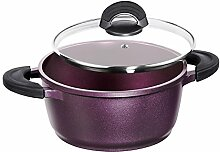 IMPERA Aluguss Bratentopf, 24 cm, Aubergine Purple