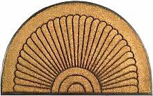 Imports Decor Fußmatte aus Kokosfaser, halbrund,