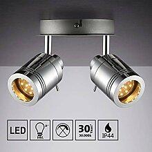 IMPTS LED Decken-Strahler 3W Badlampe 2-flammig