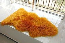 IMQOQ Teppich, Echtes Schaffell, lang, dick, 70 x