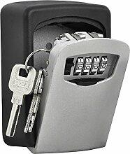 Imurz Schlüsselsafe Mit Zahlencode Zur Wandmontage Schlüsselsafe Schlüsseltresor Mit Zahlencode Schlüsseltresor Mit 4-stelligem Zahlenschloss zur Befestigung an der Wand Schlüsselkasten Mit Zahlencode