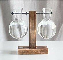 IMUZU Glasvase für den Tischaufsatz Zuhause