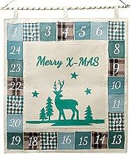 in due Adventskalender zum Befüllen 'Merry
