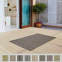 In- & Outdoor Flachgewebe Teppich für Draußen,