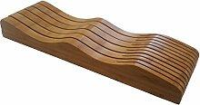 In Schublade Messerblock–Bambus in Schublade