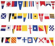 In The Breeze Welcome Aboard String Flagge, Maritime Signal Flag String, Pennants: 6 in. W x 10 in. to 15 in. H/S