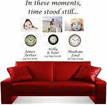 In These Moments Time Stand immer noch LC Art Wand Married Familie Kinder Aufkleber, Vinyl, 100 cm