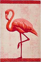In- und Outdoor Teppich Flamingo, orange (90/160 cm)