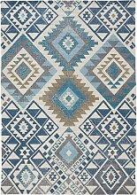 In- und Outdoor Teppich Michelle, blau (60/110 cm)