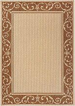 In- und Outdoor Teppich Natascha, braun (80/150 cm)