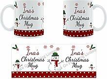 Ina'Weihnachten Becher, Tasse, Keramik,
