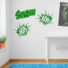 Incredible Hulk Fäusten Smash Marvel Superhero Kinder Hände Wand Dekorationen Fenster Aufkleber Wall Decor Sticker Wall Art Aufkleber Sticker Wand Aufkleber Aufkleber Wandbild Décor DIY Deco Abnehmbare Wandaufkleber Colorful Aufkleber 11 - Green