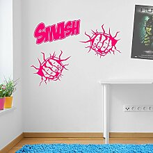 Incredible Hulk Fäusten Smash Marvel Superhero Kinder Hände Wand Dekorationen Fenster Aufkleber Wall Decor Sticker Wall Art Aufkleber Sticker Wand Aufkleber Aufkleber Wandbild Décor DIY Deco Abnehmbare Wandaufkleber Colorful Aufkleber 04 - Pink