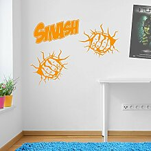 Incredible Hulk Fäusten Smash Marvel Superhero Kinder Hände Wand Dekorationen Fenster Aufkleber Wall Decor Sticker Wall Art Aufkleber Sticker Wand Aufkleber Aufkleber Wandbild Décor DIY Deco Abnehmbare Wandaufkleber Colorful Aufkleber 08 - Orange