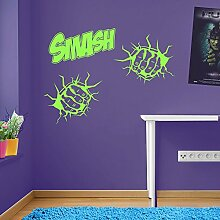 Incredible Hulk Fists Smash Marvel Superhero Children's Hands Wall Decorations Window Stickers Wall Decor Wall Stickers Wall Art Wall Decals Stickers Wall Decal Decals Mural Décor Diy Deco Removable Wall Decals Colorful Stickers by Vinyl Concep