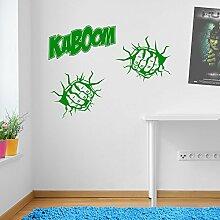 Incredible Hulk Kaboom Marvel Superhero Kinder Hände Wand Dekorationen Fenster Aufkleber Wall Decor Sticker Wall Art Aufkleber Sticker Wand Aufkleber Aufkleber Wandbild Décor DIY Deco Abnehmbare Wandaufkleber Colorful Aufkleber 11 - Green