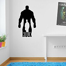 Incredible Hulk Outline Marvel Superhero Kinder Hände Wand Dekorationen Fenster Aufkleber Wall Decor Sticker Wall Art Aufkleber Sticker Wand Aufkleber Aufkleber Wandbild Décor DIY Deco Abnehmbare Wandaufkleber Colorful Aufkleber 01 - Black
