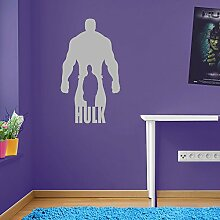 Incredible Hulk Outline Marvel Superhero Kinder Hände Wand Dekorationen Fenster Aufkleber Wall Decor Sticker Wall Art Aufkleber Sticker Wand Aufkleber Aufkleber Wandbild Décor DIY Deco Abnehmbare Wandaufkleber Colorful Aufkleber 02 - Silver