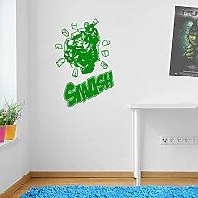 Incredible Hulk Zitat Marvel Superhero Kinder Hände Wand Dekorationen Fenster Aufkleber Wall Decor Sticker Wall Art Aufkleber Sticker Wand Aufkleber Aufkleber Wandbild Décor DIY Deco Abnehmbare Wandaufkleber Colorful Aufkleber 11 - Green
