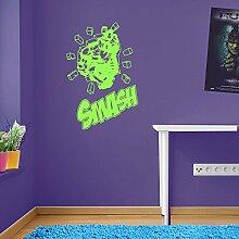 Incredible Hulk Zitat Marvel Superhero Kinder Hände Wand Dekorationen Fenster Aufkleber Wall Decor Sticker Wall Art Aufkleber Sticker Wand Aufkleber Aufkleber Wandbild Décor DIY Deco Abnehmbare Wandaufkleber Colorful Aufkleber 10 - Lime Green