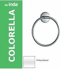 Inda a2316twz Handtuchhalter Ring Colorella, weiß
