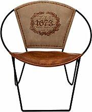 Indhouse–Stuhl Schmiedeeisen und Leder 1673