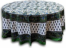Indian Arts TC05501 Tischdecke, 100 % Baumwolle,