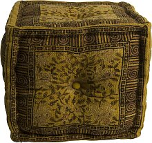 Indian Block - Pouf - Gelb