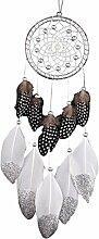 Indian Dreamcatcher Feder Silber Bead Dekoration