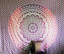 Indian Lila Weiß Überwurf Hippie Gypsy Cover