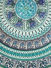 Indian Print Mandala rund Baumwolle Tischdecke