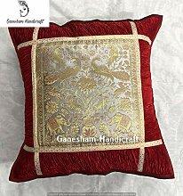 Indian Silk Pillow Sofa Seat Square Back Cushion