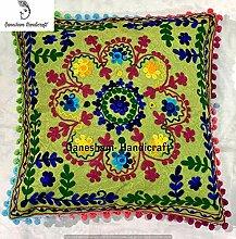Indian Suzani Designer Home Decor Floral Pillow