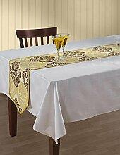 Indian Tischläufer Baumwolle Ente Frühlingsschmuck Blumendruck 33 x 182 cm