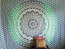 Indian Türkis Blau Weiß Überwurf Hippie Gypsy