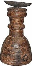 Indianshelf aus Holz handgefertigte Kerze Die Statue Stand Dekoration Designer Erklärung Vintage Stück Online Neue