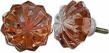 IndianShelf handgefertigt Set of 8 Glas Golden Schrank Pull Anrichte Knöpfe Wardrobe Griffe