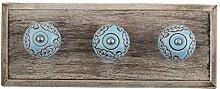 IndianShelf handgefertigte Türkis-braun Blatt Blume geätzt Holz Wandhaken Stoff Mäntel Kleiderbügel Schlüssel Zubehör Inhaber Online