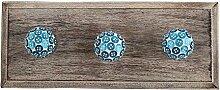 IndianShelf handgefertigte Türkis Button Holz Wandhaken Stoff Mäntel Kleiderbügel Schlüssel Zubehör Inhaber Online