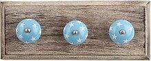 IndianShelf handgefertigte Türkis Stern Holz Wandhaken Stoff Mäntel Kleiderbügel Schlüssel Zubehör Inhaber Online