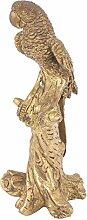 Indianshelf handgemachte Papagei von Messing auf Ast Statue Dekoration Designer Erklärung Vintage Stück Online Neue