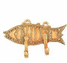 IndianShelf Handmade 2 Stück Fisch dekorative