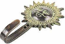 IndianShelf Handmade 4 Stück Patina Sun Gesicht