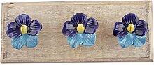 IndianShelf Handmade Marine Blau Türkis Blume Holz Wandhaken Stoff Mäntel Kleiderbügel Schlüssel Zubehör Inhaber Online